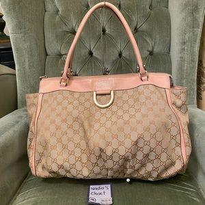 Gucci D GOLD Shoulder Tote Bag